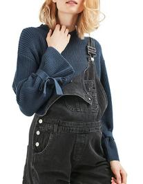 Topshop MATERNITY Tie-Sleeve Sweater-BLUE-UK 14/US 10