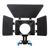 Matte Box Sunshade for 15mm Rail Rod Support DSLR 5DII 60D
