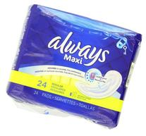 Maxi Regular without Wings, Unscented Pads 24 Count