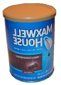 MAXWELL HOUSE COLOMBIAN COFFEE can safe stash diversion