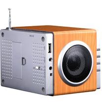 August MB300 Mini Wooden MP3 Stereo System and FM Clock