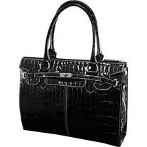 McKleinUSA FRANCESCA 11105 Black Faux Patent Croco Leather