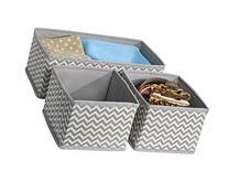 mDesign Chevron Fabric Dresser Drawer and Closet Storage