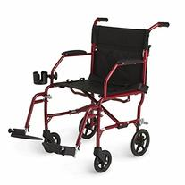 "Medline Ultralight Transport Chair, 19"" Wide Seat, Permanent"