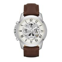 Fossil Men's ME3027 Grant Automatic Watch With Brown Leather