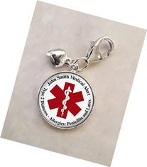 Medical Alert Your Custom Text .925 Sterling Silver Charm