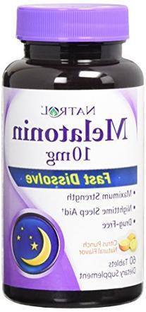 Natrol Melatonin Fast Dissolve Tablets, Citrus Punch, or