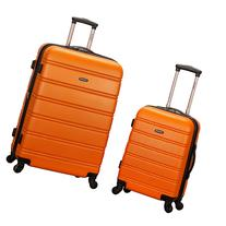 Rockland Luggage Melbourne 2 Pc Expandable ABS Spinner