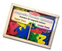 Melissa & Doug Magnetic Magnetic Wooden Alphabet Set Small