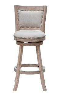 Melrose 24 Swivel Bar Stool, Oatmeal