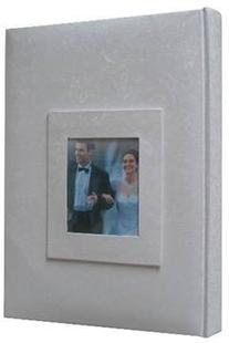 Kleer-Vu Photo / Memo Album with Window, Wedding Moire