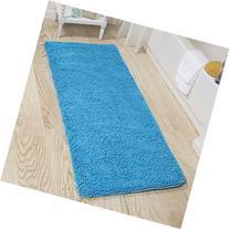 Lavish Home Memory Foam Shag Bath Mat 2-Feet by 5-Feet -