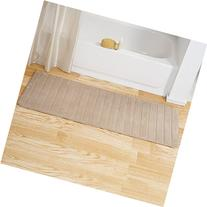 Lavish Home Memory Foam Striped Extra Long Bath Mat, 24 by