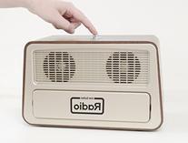 Memory Loss One Button Radio/Large Retro Style Dementia