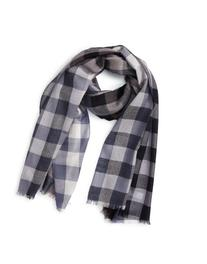 Men's Paul Smith Gingham Scarf, Size One Size - Grey