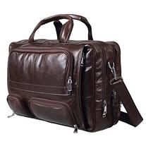 Polare Real Leather 17''Laptop Carry On Overnight Bag