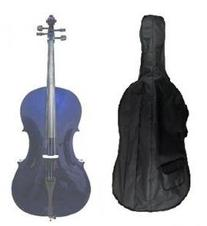 GRACE 3/4 Size PURPLE Cello with Hard Case + Soft Carrying