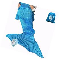 LAGHCAT Mermaid Tail Blanket Crochet and Mermaid Blanket for