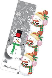 Merry Christmas Plush 3D Snowmen Home Garden Flag - 12 x 18
