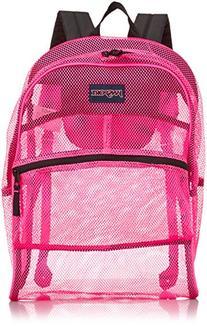 "JanSport Mesh Pack Backpack - Fluorescent Pink / 18.6""H x 13"
