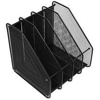 Mesh Metal 4 Compartment Freestanding Desktop Documents /