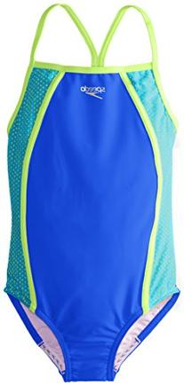 Girl's Speedo Mesh One-Piece Swimsuit, Size 16 - Blue