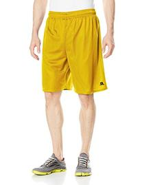 Russell Athletic Men's 9 Inch Mesh Short, Gold, Large