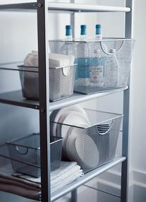 Design Ideas Mesh Storage Nest, Silver, Giant
