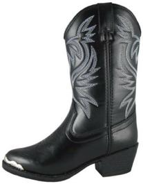 Kids Child Mesquite Western Boot,Black,4 M US Big Kid