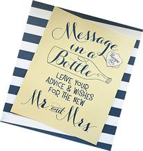 Message In A Bottle 8x10 Wedding Sign. Advice and Wish Sign
