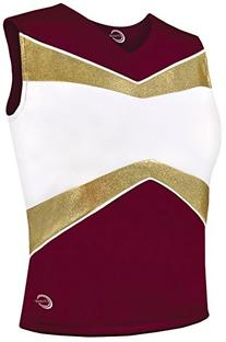 Met Vibe Shell Top Maroon/Gold Youth X-Small