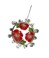 Metal Christmas Wreath Hibiscus