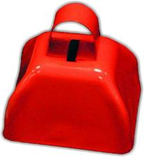 "3"" Metal Cowbell  - Red"