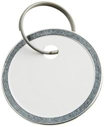 Avery Metal Rim Key Tags, Card Stock/Metal, White, 50 per