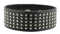 Unisex Metal Spike Studded Punk Rock Wide Strap PU Leather