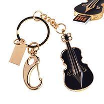 LHN® 8GB Metal Violin USB 2.0 Flash Drive with Key Chain