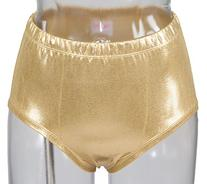 Metallic Briefs Size Small Gold