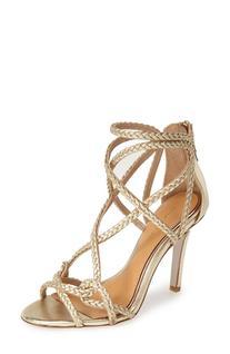 Women's Badgley Mischka 'Evoke' Metallic Leather Sandal,