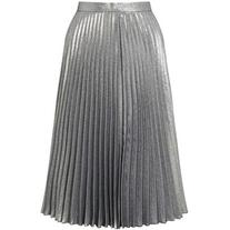 Miss Selfridge Metallic Pleated Skirt