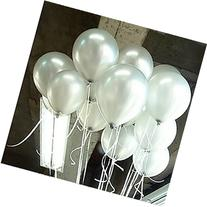 "100 Pack Metallic Silver Latex12"" Balloons"