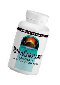 Source Naturals Methylcobalamin Vitamin B-12 5mg Cherry