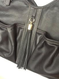Petote Metro Couture All Leather with Tassel Dog Carrier,