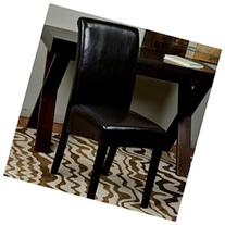 Office Star Metro Parsons Chair In Espresso Faux Leather Kd
