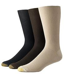 Gold Toe Metropolitan Cotton Dress Socks 3-Packs, One Size,
