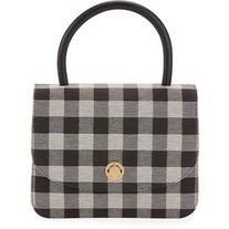 Mansur Gavriel Metropolitan Gingham Top-Handle Bag