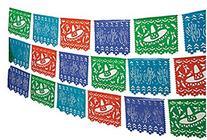 2-100' Mexican Cutout Banner Pennant Cinco de Mayo Flag