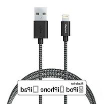 Inateck 6ft/ 1.8m Nylon Braided Lightning to USB Cable,