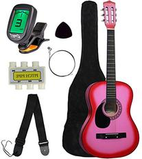 "Crescent MG38-PK 38"" Acoustic Guitar Starter Package, PINK"