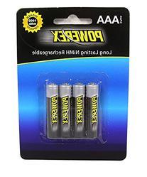 Powerex MHRAAA4 Powerex AAA 1000mAh 4-Pack Rechargeable