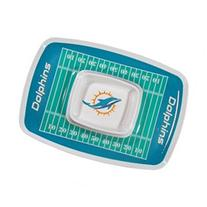 Siskiyou Sports Miami Dolphins Chip And Dip Tray Chip and